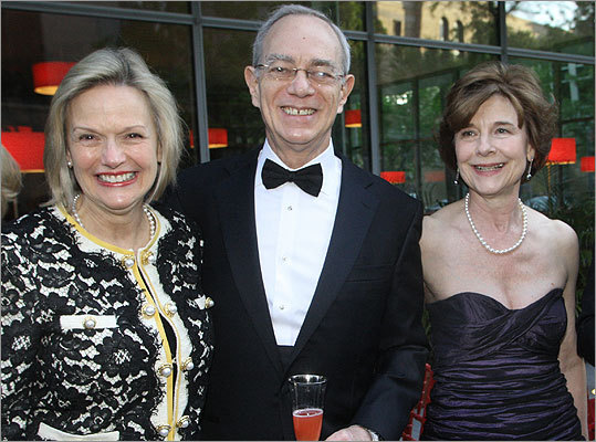 May 12 in Boston From left: Chris and Rafael Reif of Newton with Museum Director Anne Hawley.