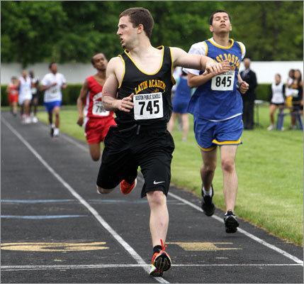 Latin Academy's Sonny Finch, No. 745, won the boys 1 mile run.
