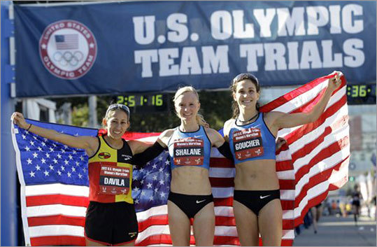 Shalane Flanagan New England connection: Grew up in Marblehead, Mass. Team: Track & Field (marathon) Age: 30 Notes: Flanagan (center) was the 2012 marathon trials champion, which guarantees her a spot on the US team for London. Prior to switching to the marathon, she was a middle distance runner. She has also committed to making her Boston Marathon debut in 2013. BostonGlobe.com: Flanagan chases marathon dream