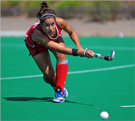 Melissa Gonzalez New England connection: Attended UConn Team: Field hockey Age: 23 Notes: Gonzalez is one of 16 members of the US field hockey team. She was on the 2008 Olympic team that finished in eighth place. Gonzalez was an All-American at UConn.