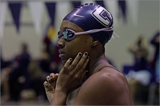 Chinyere Pigot New England connection: Attended University of Connecticut Team: Swimming (Suriname) Age: 19 Notes: Pigot will represent Suriname in London in the 100-meter breaststroke. She competed in the 2008 Summer Games as a 14-year-old. UConn assistant coach Tyson Hurst will also be in London as an assistant coach for Suriname.