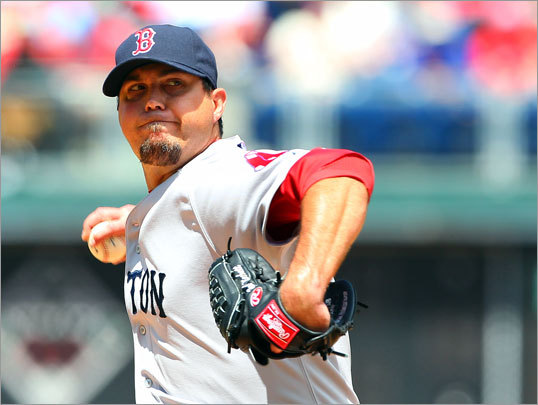 Josh Beckett started the series finale Sunday for the Red Sox in Philadelphia and pitched well, going 7 2/3 innings and allowing one earned run to record his fourth win of the season.
