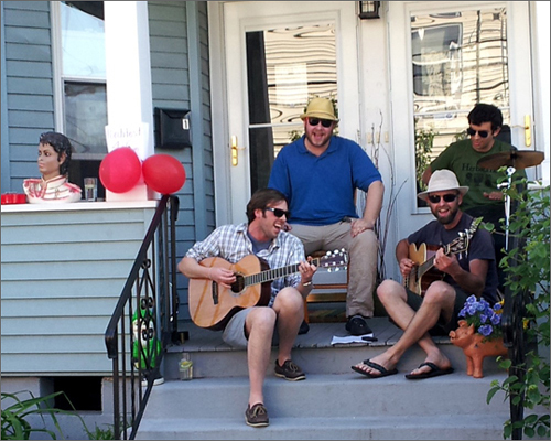 May 19 was Somerville's second annual Porchfest: a decentralized music festival with over 100 acts performing on porches, front stoops, yards, and driveways. The Ways and Means Committee played a show on the porch of 328 Summer St.