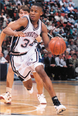Ray Allen Before the Celtics: Hillcrest High School (SC), UConn, Minnesota Timberwolves, Milwaukee Bucks, Seattle SuperSonics In 1995–96, his final season at UConn, Allen was a first-team All-American and won the Big East Player of the Year award.