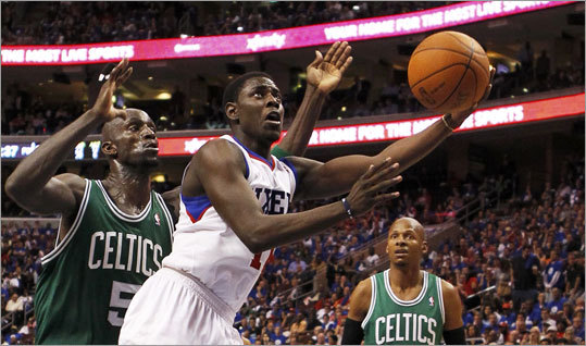 Jrue Holiday led five 76ers who scored in double figures with 20 points.
