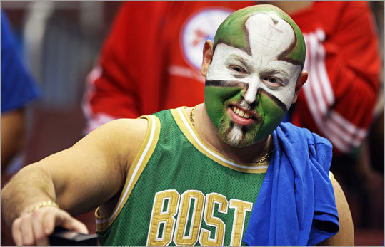 Celtics season ticket holder Mike Sorkin drove from his home in Providence, RI, to attend Game 6, and he dressed for the occasion.