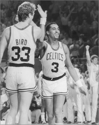 May 17, 1987: Celtics beat Bucks 119-113 in Boston The Celtics overcame an eight-point deficit in the final six minutes and seemed to outmuscle the Bucks in Game 7 of the second round. They outrebounded Milwaukee 57-27 and held the Bucks to 0-for-9 shooting with two turnovers over the final 5:25. 'What won the game,' said Larry Bird (shown in 1987), 'was our ability to keep the defensive pressure on them, even though they were ahead.' The Celtics moved on to play the Pistons in the East finals.