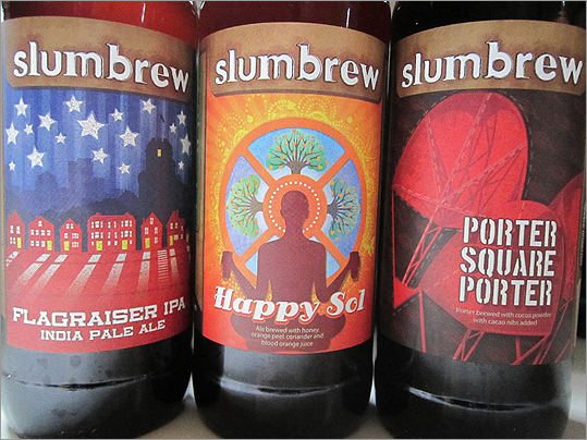 Slumbrew The independent beer brewer's first marketed beer was named Flagraiser IPA, inspired by Prospect Hill's historic flag raising. The company's official debut was held down the street at the Independent.