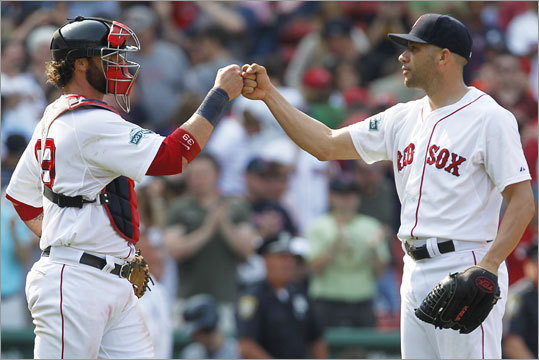 Monday, May 28 Alfredo Aceves closed out the game in the ninth inning to help the Red Sox reach the .500 mark for the sixth time this season.