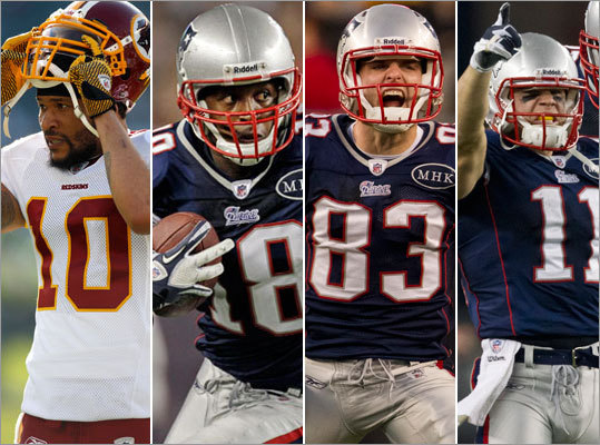 With Chad Ochocinco released, the Patriots' logjam at wide receiver has been eased, but there are still tough decisions for the team to make. How many are on the team right now? The correct answer now is 10. The Patriots need to pare that down to six, or maybe seven, before the season begins. Most of the wideouts are quite decorated. Some are on their second tenure with the team. Some are looking to make a comeback. And some are just trying to get their careers going. Here's a look at those 10, where they could possibly play in the Patriots' plans, and our best guess at what the depth chart may eventually look like. -- By Zuri Berry, Boston.com Staff