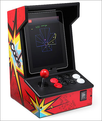 iCADE - iPad Arcade Cabinet Price: $99.99 Is Dad an old-school gamer? Let him turn his newfangled iPad into an old school arcade machine.