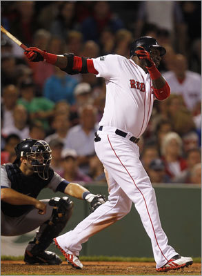 Tuesday, May 29 Designated hitter David Ortiz cranked a solo home run in the bottom of the seventh. Ortiz hit his 11th homer of the season off Tigers reliever Duane Below.