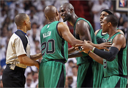 What would the NBA playoffs be without an officiating controversy? A major story line that has emerged from the Eastern Conference Finals between the Celtics and Heat is the way referees have handled the games, and many Celtics fans believe the officials have it in for their team. Take a look at the talking points, then cast your vote in a survey about NBA officials.