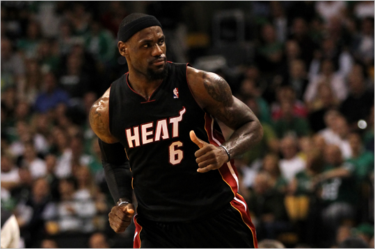 LeBron James reacted in the first half, in which he scored 20 points.