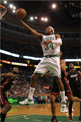 Paul Pierce drove for a shot attempt in the first quarter.