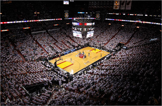 The NBA's Eastern Conference Finals return to American Airlines Arena in Miami for Game 5 between the Celtics and Heat with the series tied at 2-2. Neither team has won on the opponent's court yet in this hard-fought series. Scroll through the gallery to look at the key story lines surrounding Game 5, then vote for how you think the game will turn out tonight.