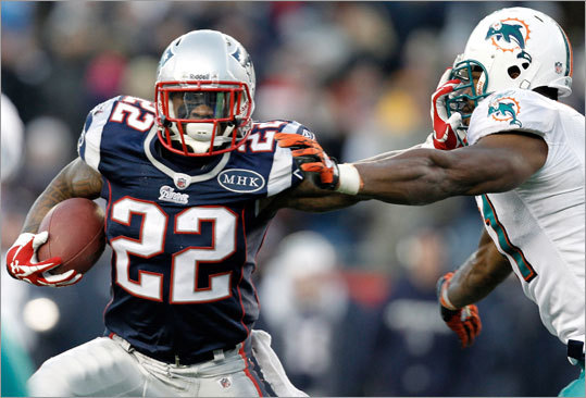 Projected depth chart 1. Stevan Ridley 2. Shane Vereen 3. Danny Woodhead 4. Joseph Addai 5. Brandon Bolden (practice squad eligible)