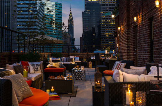 Hotel 57, New York - Also recently opened in NYC is Hotel 57's rooftop lounge, which serves drinks every night from 6 p.m. to midnight (weather permitting). During the summer months, the Rooftop Terrace will feature emerging musical artists and DJs through exclusive performances for guests, in this intimate lounge.