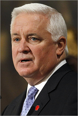 Tom Corbett Now the governor of Pennsylvania, Corbett was attorney general when the investigation into Sandusky was launched by state prosecutors. Corbett is an ex-officio member of the Penn State Board of Trustees, although he did not actively participate until after Sandusky was charged in December.
