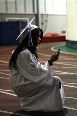Akriti Thapa, 17, sent a last-minute text message to her sister before the ceremony began.