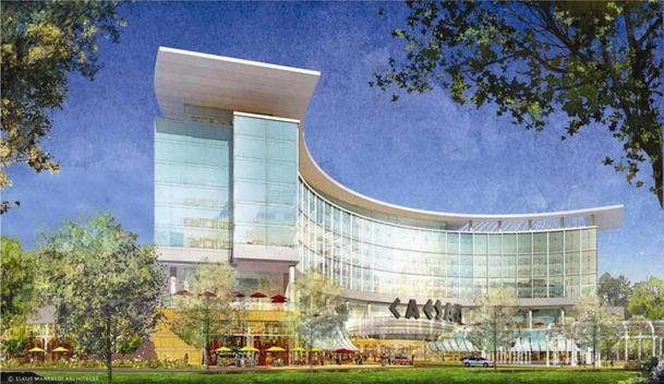 An architectural rendering of the proposed gambling resort.