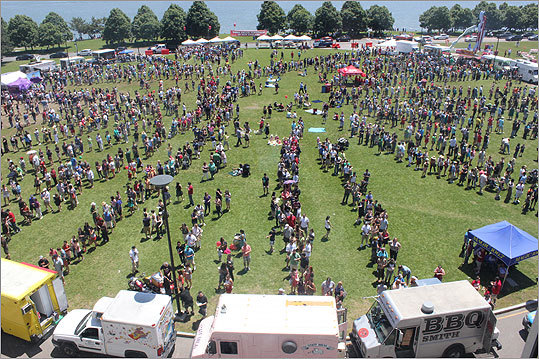 More than 5,000 people got a chance to sample fare from food trucks from throughout the region on June 10 outside the campus center at UMass Boston in Dorchester.