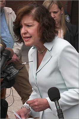 US Attorney Carmen Ortiz, who spoke to the media outside the courthouse, took issue with the defense argument that Greig was a victim of her love for Bulger.