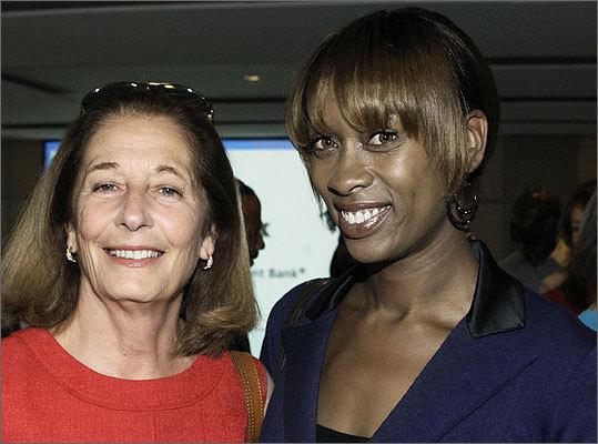 June 12 in Boston From left: Karen Voci of Cambridge and Janelle Woods-McNish of Dorchester.