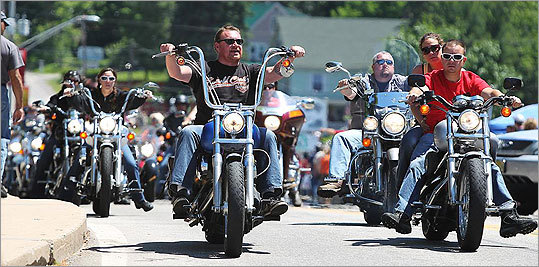 About 300,000 motorcycle enthusiasts from across the country and Canada were expected to flock to New Hampshire for the nine-day Laconia Motorcycle Week that began June 9 and lasted through June 17. The event is based on Lake Winnipesaukee in Laconia and is billed as the nation's oldest motorcycle rally. Click through to view scenes from the event.