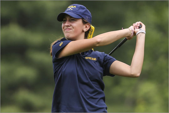 Girls golf Emily LaFond and her Notre Dame Academy of Hingham teammates won the MIAA Team State Finals at Holden Hills Country Club in Jefferson. Story: Par for the course, Notre Dame rolls