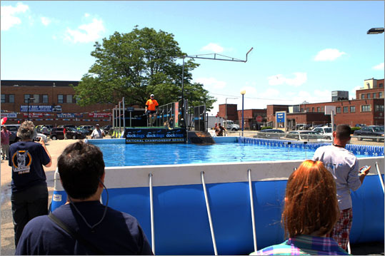 The weekend's competition brought out a handful of competitors and hundreds of spectators, as Boston residents got a taste of Dock Dogs. Put on by the group DockDogs, one of the premier canine aquatic competitions, the weekend contest was a qualifier for nationals. DockDogs holds competitions across the United States, Canada, and Europe and although this was the group's first visit to Boston, officials said they are looking to make it a regular stop on the circuit.