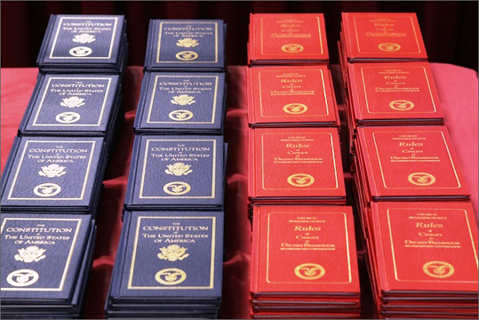 Mystic Valley Regional High Along with their diplomas, graduates received hard-cover copies of the US Constitution and George Washington's Rules of Civility.