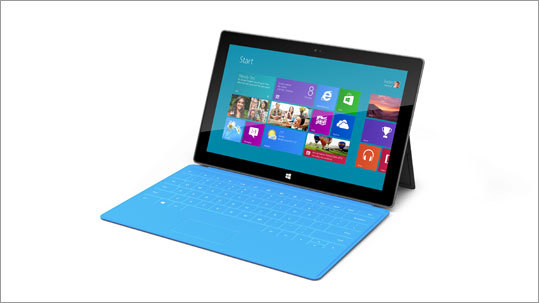 The next level of the Surface includes 64 GB of storage and the cover for $700. The Surface tablets will have a 10.6-inch display and will run the new version of Microsoft's operating system, Windows 8. Windows 8 became available at the end of October. You can order the software for $70 .