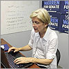 Warren took questions from Boston.com readers