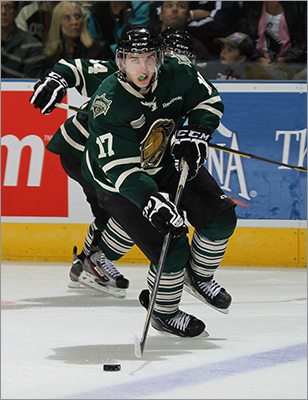 Seth Griffith Drafted: 131st, 5th round (via Lightning) Position: Center Amateur team: London, OHL Griffith ranked second in the OHL in goals with 45 and added 40 assists in his third season with the Knights. Compared to 2010-11, his goals doubled from 22 and assists remained the same at 40.