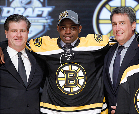 Malcolm Subban Drafted: 24th, 1st round Position: Goalie Amateur team: Belleville, OHL The younger brother of hated Montreal defenseman P.K. Subban, Malcolm had a 2.50 goals-against average and a .923 save percentage with three shutouts for Belleville last season. The 18-year-old will return to his junior team in 2012-13.