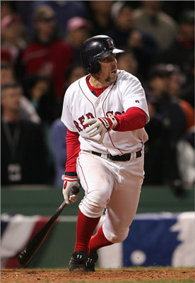 Bill Mueller Like Kevin Millar, Mueller started his Red Sox career in 2003. He won a batting title in his first season, hitting .326 with 45 doubles. In the '04 World Series, he hit .429 and had a .556 OBP. Today, Mueller is in the Dodgers front office as a special assistant for baseball operations and player development.