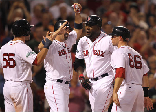 David Ortiz Ortiz is the only active player left from the '04 World Series team. Ortiz had a breakout season with the Red Sox in 2003 and helped lead the Sox to World Series championships in 2004 and 2007.