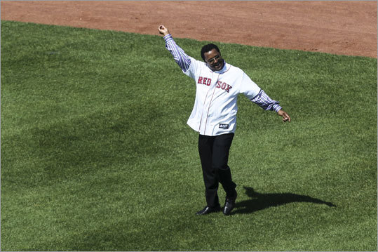 Pedro Martinez Pedro ended his career in Boston by retiring the last 14 hitters in Game 3 of the World Series. He earned the victory and left in the offseason to pitch for the Mets for four years. He pitched briefly for the Phillies in 2009 before eventually retiring in 2011. Martinez will be recognized Wednesday at 'The Tradition,' an annual fundraising event for The Sports Museum in Boston.