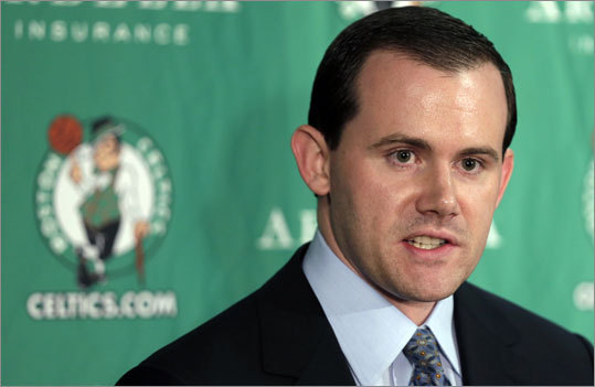 Celtics assistant general manager Ryan McDonough (left) and team management had to make some tough decisions Thursday night. In the end, unable to trade up for a higher pick, the team opted to go big on size, drafting power forward Jared Sullinger and center Fab Melo at picks 21 and 22. The C's picked Kris Joseph at No. 51 in the second round. Get to know these draftees better in this gallery, and then you tell us if the Celtics used their draft wisely or not.
