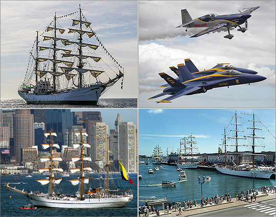Boston hosted nearly two dozen ships from June 28 to July 6, thanks to the overlap of Boston Harborfest, War of 1812 bicentennial celebrations, Navy Week, and OpSail Boston.