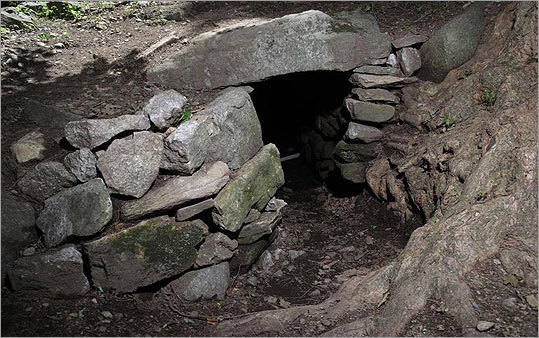 The Upton Chamber is one of the largest man-made stone chambers in New England.
