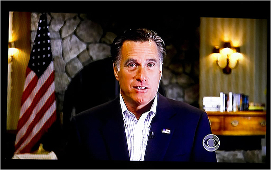 Mitt Romney responded to President Obama's criticism of his tenure at Bain Capital in an appearance on CBS.