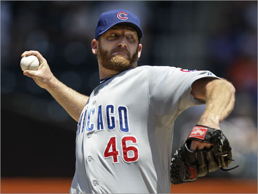 Ryan Dempster ESPN's Buster Olney reported via Twitter that the Red Sox were interested in the Cubs' starting pitcher, but more recent reports indicate Boston had backed off on Dempster and the Braves are close to a deal for him. Dempster is 5-4 in 15 starts this season and has a 2.11 ERA. Dempster is pricey with a $14 million salary in 2012, but is also in the crosshairs for many teams, Olney said on on the Mike and Mike radio show.
