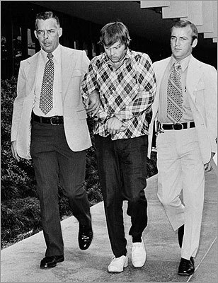Seven killed at California State University, Fullerton-- July 12, 1976: Edward Charles Allaway (center left), a custodian in the library of the school, fatally shot seven fellow employees and wounded two others.