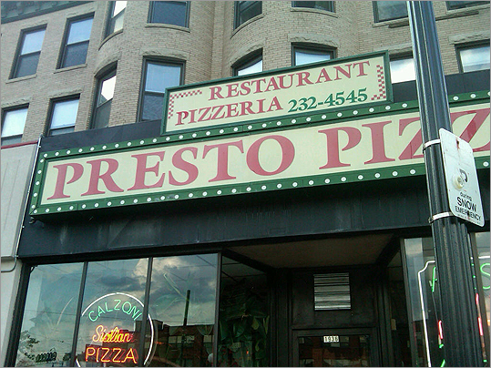Presto Pizzeria Presto Pizzeria, a popular restaurant located in Cleveland Circle for about 30 years, has closed , according to the property&#146;s landlord. The restaurant at 1936 Beacon St. shut down in May and a sign was posted on the storefront thanking its former customers.