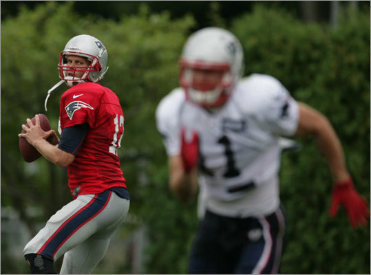 Tom Brady is celebrating his 35th birthday today, an occasion that for the last 13 years, he's celebrated during a pro football training camp after being drafted by the New England Patriots in the sixth round of the 2000 NFL draft. Over the years, we've come to know Brady well. Take a glance through memory lane here.