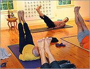 Men's group embraces yoga