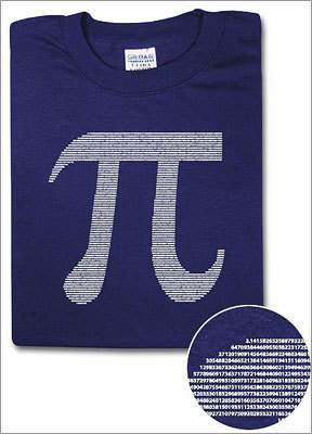 Pi by numbers Price: $16.99 - $18.99 Know a mathlete ready to start back in the classroom? Help him or her show off love for one of math's favorite symbols.