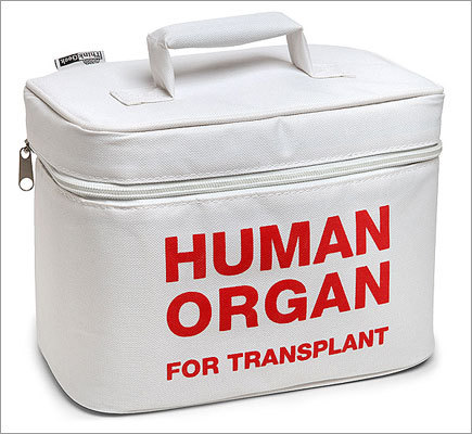 Organ transport lunch cooler Price: $19.99 Want to keep bologna sandwiches safe from schoolyard bullies? Give the gift of a safe lunch box with this 'Human Organ for Transplant' disguise.